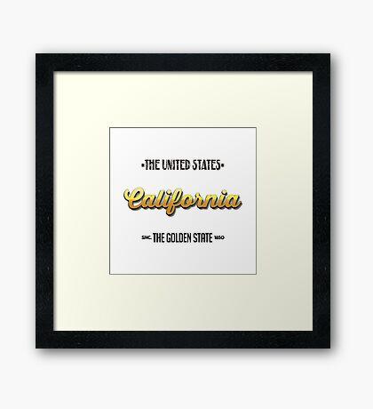 Vintage California Framed Print