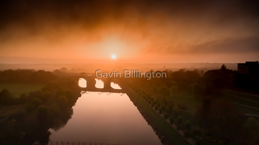 SunSet over Preston by Gavin Billington