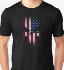 Punish Skull USA Flag  T-Shirt