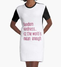 Vestido camiseta Palabras de bondad que empoderan