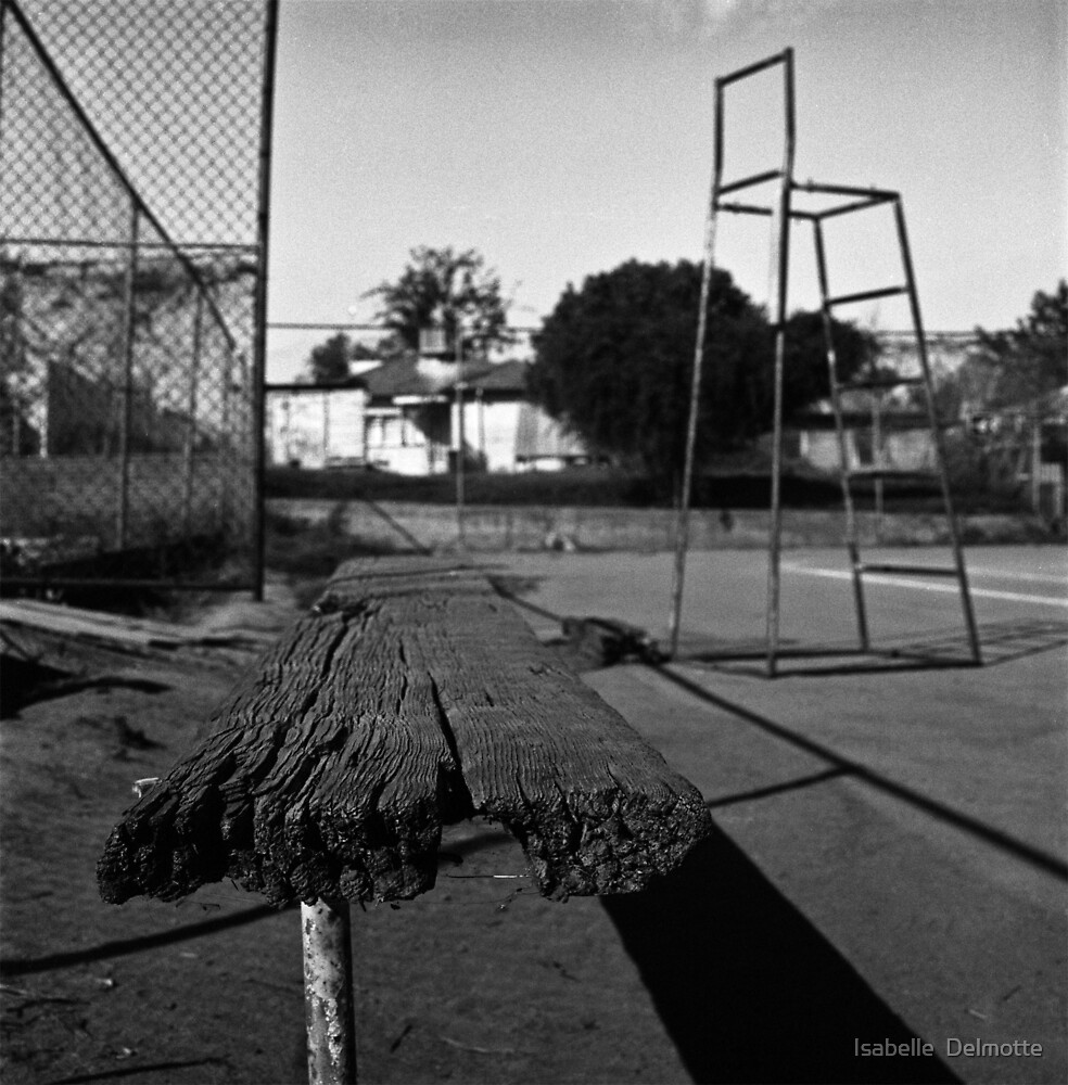 The Tennis Bench by Isabelle  Delmotte
