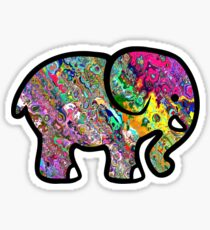 Trippy Elephant Sticker