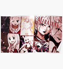 """Mirajane Fairy Tail """"Collage Poster"""