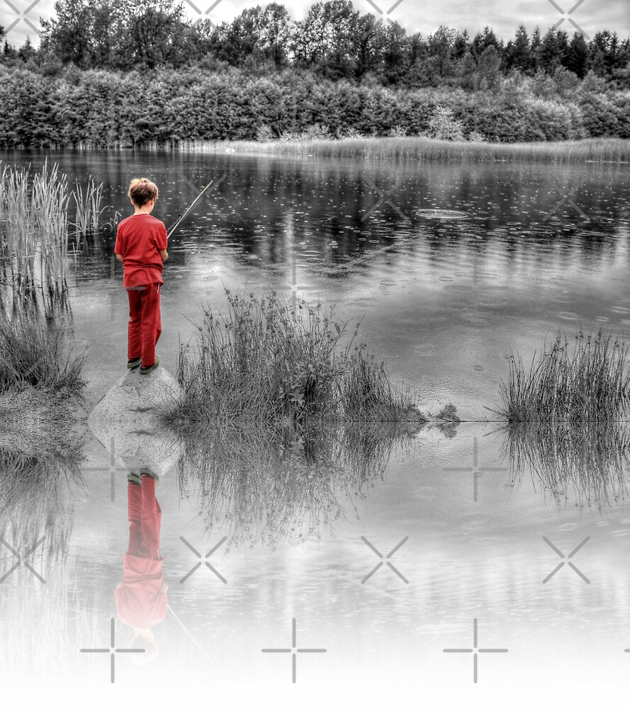 Red Little Fisherman by Erniesartwork
