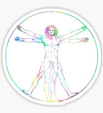 Leonardo da Vinci Vitruvian Perfect Man Sticker