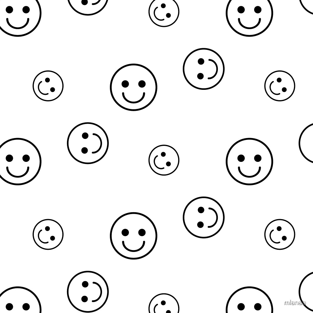 Vector seamless pattern with smileys. For easy making seamless pattern just drag all group into swatches bar, and use it for filling any contours. by mlanaa