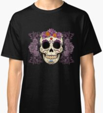 Vintage Skull and Roses Classic T-Shirt