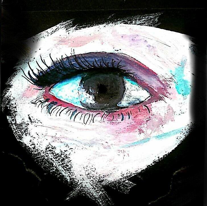 Brown eye - black by CoduCat