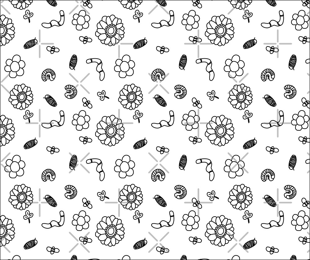 Bugs and Flowers Pattern by troman479