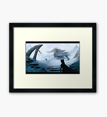 Ice dragon Framed Print