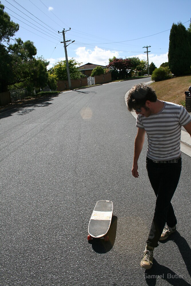 """""""Surfing Suburbia"""" by Samuel  Butler"""