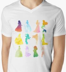 Princesses Watercolor Silhouette T-Shirt