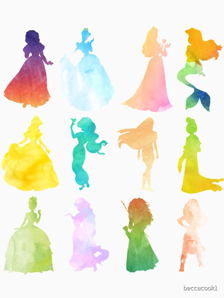 Prinzessinnen Aquarell Silhouette von beccacook1