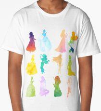 Princesses Watercolor Silhouette Long T-Shirt