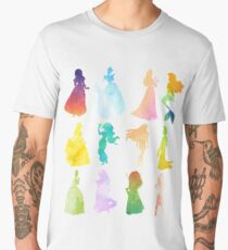 Princesses Watercolor Silhouette Men's Premium T-Shirt