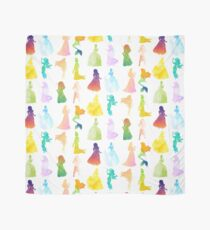 Prinzessinnen Aquarell Silhouette Tuch