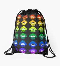 Rainbow Splatoon Squids Drawstring Bag
