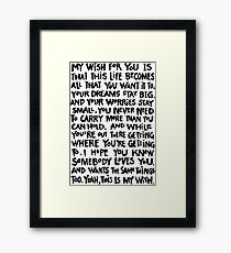 MY WISH RASCAL FLATTS Framed Print  sc 1 st  Redbubble & My Wish for You: Wall Art | Redbubble