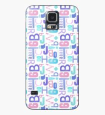 Letterpress Pastel Pattern Case/Skin for Samsung Galaxy