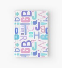 Letterpress Pastel Pattern Hardcover Journal