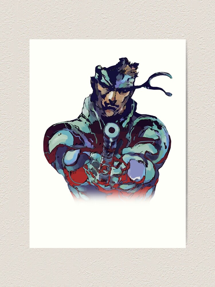 Metal Gear Solid Snake Classic Rare Design 100 Redrawn In Adobe Ilustrator Vector Format Art Print