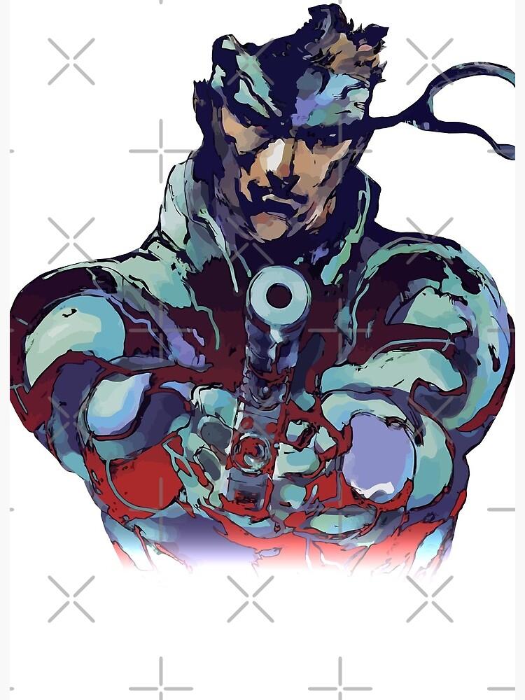 Metal Gear Solid Snake Classic Rare Design 100 Redrawn In Adobe Ilustrator Vector Format Art Board Print By Gamingtee