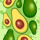 Avocado Juicy Pattern by BluedarkArt