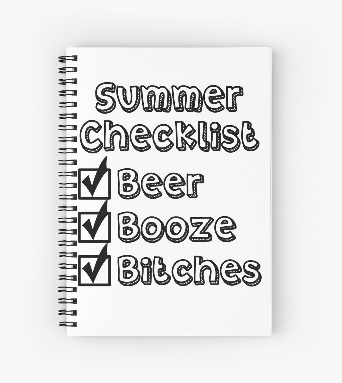 611c88632712b Summer Checklist T-Shirt