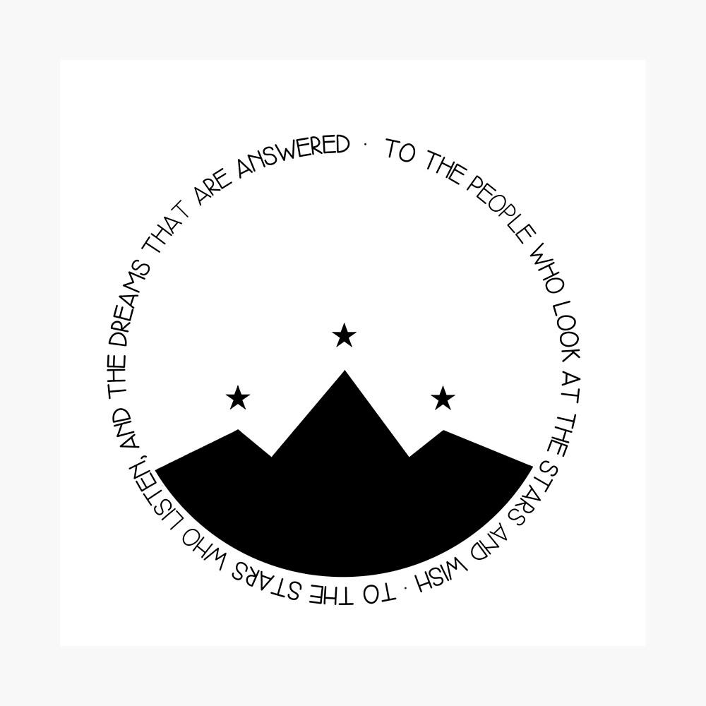 Den Menschen, die in die Sterne schauen und WISH Fotodruck