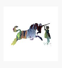 Watercolor Unicorn Art Photographic Print