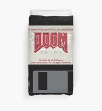 Classic Doom Game Installation Disk Duvet Cover
