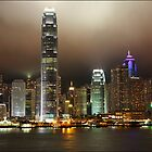 Hong Kong Island at night by ozczecho