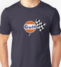 Gulf Racing checkered Slim Fit T-Shirt