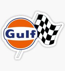 Gulf Racing checkered Sticker