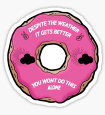 With Con Donut Sticker Sticker