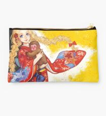 Red and Yellow Studio Pouch