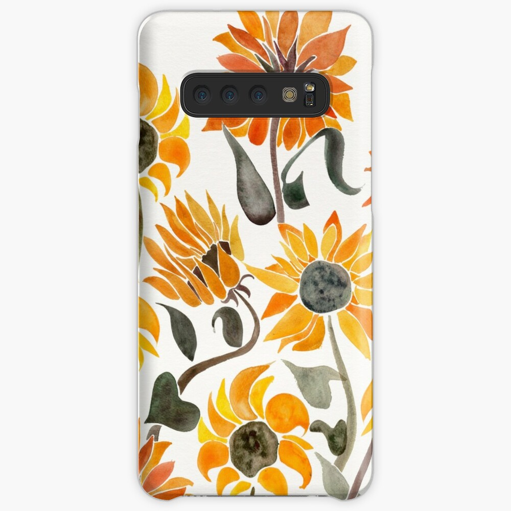 Sunflower Watercolor – Yellow & Black Palette Case & Skin for Samsung Galaxy