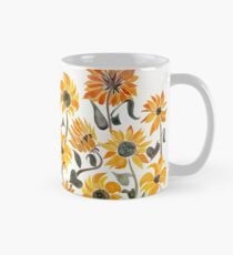 Sunflower Watercolor – Yellow & Black Palette Classic Mug
