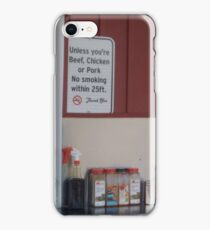 No Smoking Sign iPhone Case/Skin
