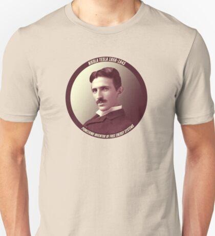 Nikola Tesla - Pioneering Inventor of Free Energy Systems T-Shirt