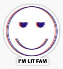 I'm Lit Fam Funny Party T Shirt   EDM Festival Gear Sticker
