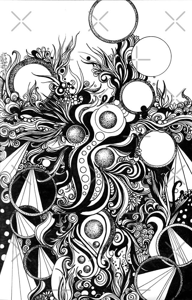 Instinctive, an organic ink drawing by Danielle Scott
