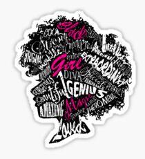Schwarze Mädchen Magie Sticker