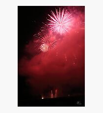 Red Fireworks Photographic Print