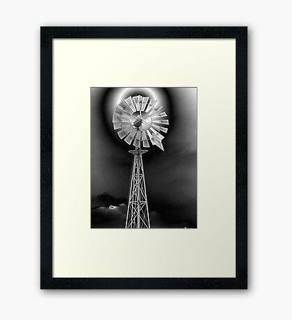 Metallic windmill Framed Print