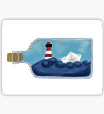 The bottle ship Sticker