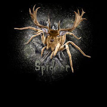 Spider + Deer = Spideer Funny Spider  by deichmonster