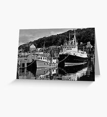 Rothesay pier in Black and White film Greeting Card