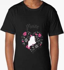 Maine - Always In My Heart (Bold Color Version) Long T-Shirt