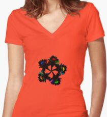 Daffodil Neon Women's Fitted V-Neck T-Shirt